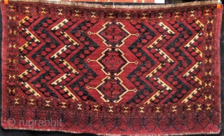 "Antique Turkmen Ersari/Beshir ikat-inspired chuval, 19th century, in good overall condition.  40"" by 69"".  Please ask for additional photos if needed."