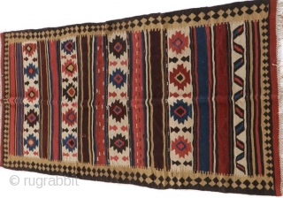 Just found: antique Shahsavan kilim.  All colors appear natural.  Please ask for additional photos etc.