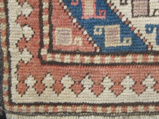 "Lovely Gendge Caucasian bag front.  First quarter of the 20th Century and well preserved.  A couple of dyes show some fading (see last photo).  17"" by 19""."
