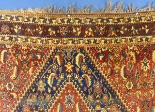 "Qashqai, c.1900+/-, 64"" x 83"",  Excellent condition. Ask about this...  Price:  POR"