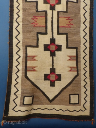 """American Navajo Weaving, c. 1920, 88"""" X 41"""", Very good condition with 2 small dings.  Email me for more pictures and price: ddbstuff@aol.com, SOLD"""