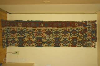 Anatolian kilim half, 18th century, 30 x 147 inches (76 x 374cm) Condition: professionally cleaned; in exceptional condition for its age.
