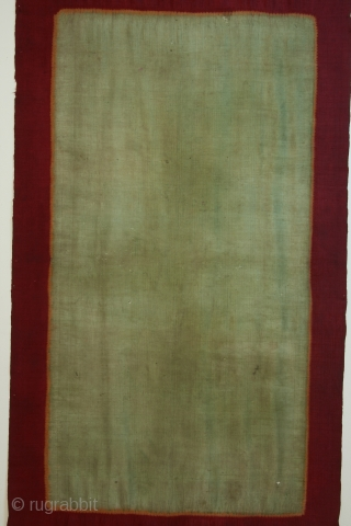 Woman's shawl ( lawon), Palembang region, S. Sumatra, Indonesia, silk, resist dyed patterning, 19th century, 34 x 83 inches.