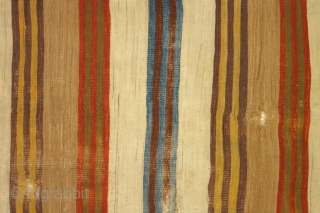 Anatolian striped kilim, 10 feet two inches x 30 inches (310 x 70cm), circa 1800-1850.
