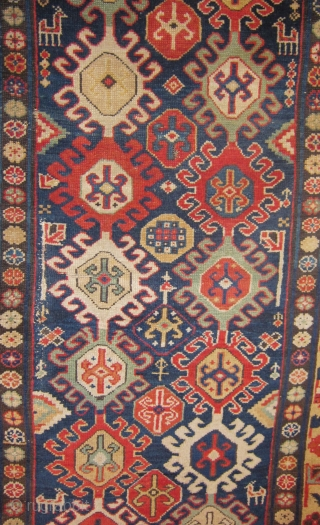 19th century Caucasian rug. Size is 3.2x5.4