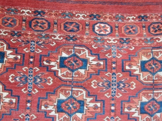 Nice small Turkman rug.