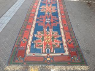Caucasian kilim size:410x142-cm ask