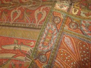 Antique Indian woven Kashmir shawl???size:344x156-cm  ask