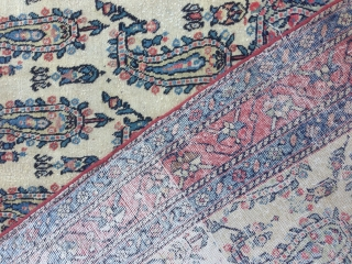 Persian rug antiqe mint condishen write Mubarak end have a date size:206x121-cm good price