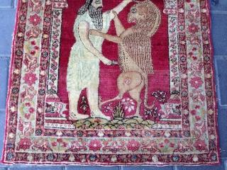 Lavar carman Persian antiqe size:68x60-cm ask