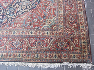 semi-antique Tabriz carpet size: 370x270-cm