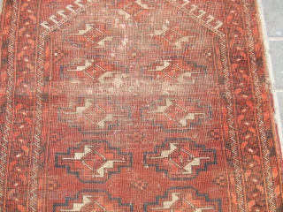 ANTIQUE AFGHAN PRAYER CARPET  92x70-cm  /36.2x27.5-inches