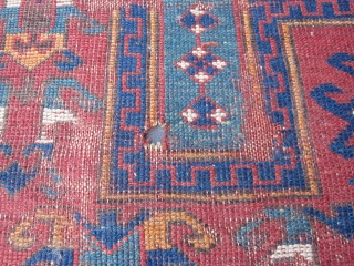 ANTIQUE FACHRALO KAZAK PRAYER RUG 190x123-cm / 74.8x48.4-inches