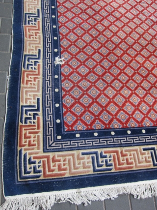 Peking Chinese Rug size:293x200-cm /115.3x78.7-inches Please ask.