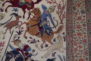 An Isfahan pictorial rug, attributrd to Husian Seyrafian 