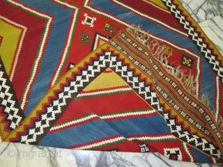 Nice, old very decorative Qashqaee kilim   320x145CM  P.O.R