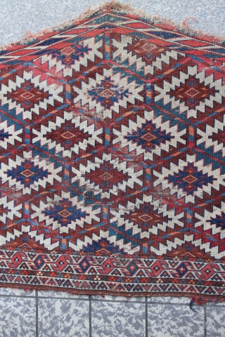 Turkmen Asmalik 123 x 77 cm , fine quality , has some age ware