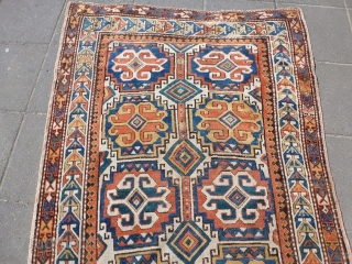 caucasian rug, 195x122cm, beautiful colors