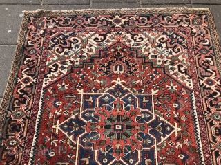 Antique Heriz rug from 1880, 180 x 145 cm(5.90 x 4.75 feet).  Price: 1100 euro(1230 dollar)
