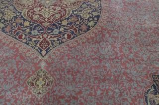 Hereke (Herreke) 497 x 340 cm, a beautiful and elegant rug, natural colors,