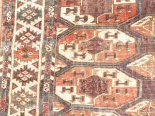 antique Turkeman 220x155cm, beautiful colors,