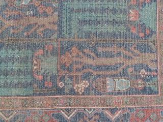 Antique Kurdish Garden Rug, 146 x 190 Cm.
