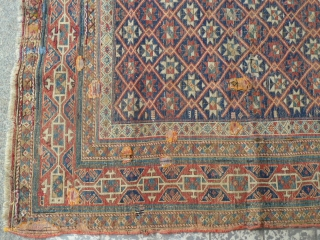 Beautifull Antique Shirvan Rug. Size 140 x 120. Comes with some condition issues.
