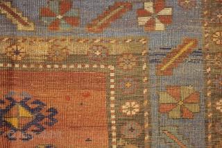antique Kazak 400 x 216 cm, all natural colors