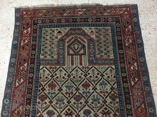 "Caucasian Antique Carpet Shirvan 149 x 91 cm(4' 11"" x 3') 