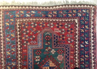 ANTIQUE KAZAK PRAYER RUG