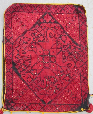 FINE PAIR OF SWAT VALLEY EMBROIDED SILK PILLOW COVERS