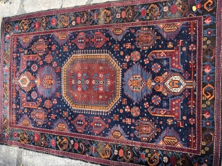 kuba rug , good condition with corroded brown.