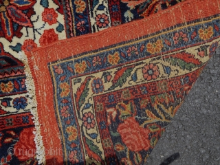 7 x 10 wonderful Bijar in lovely condition  lovely colors  circa 1930s