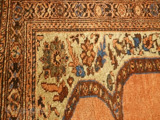 Lovely antique Bidjar rug, 180cm x 155cm. Nice squarish format, harking back to Afshar ancestors. 