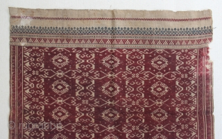 "Indonesia textile cloth ""Tampan"" from Kalianda or Putihdo Lampung, Sumatera. cotton. Size : 54cm x 54cm. Conditions : Please see on the picture, Free from any repair. 19th century."