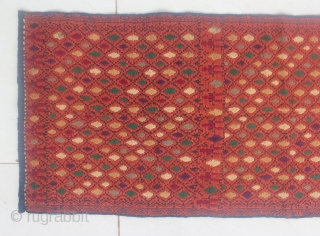 19th Century textile, OSAP cloth from sasak people, Lombok, Indonesia. Size: 92cm x 35cm. Good conditions.