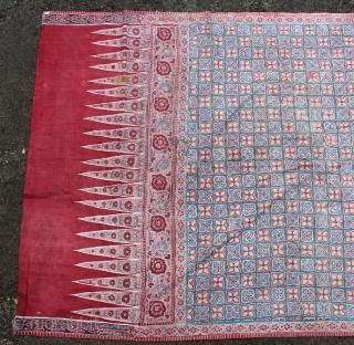 India Batik Sembagi. Size : 240cm x 110cm. there has samo small holes on repaired.