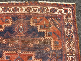 ANTIQUE AFSHAR RUG, measuring approx. 3.10 x 5.2.....early 1900's......checks drawn on U.S. banks preferred.....additional photos can be sent.....  Thanks to RR for providing this site......Ed Briggs (from beautiful Cape Porpoise, ME.