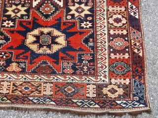 Caucasian Lesghi Star w/ date, animals.....c.1900's....approx. 4' x 6'.....checks drawn on U.S. banks preferred (not a friend of Paypal)....please check my other rugs available....ask about this.