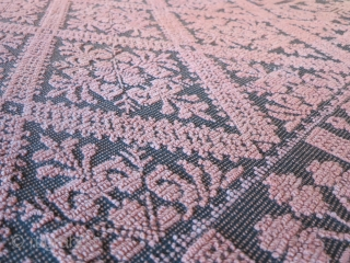 "An antique italian peasant carpet from Sardinia Island. Early XX cent. in great condition. ""Pibiones"" technique with raised pattern very decorative!Size is cm 295x203"