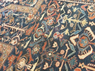 Rare SHirvan Akstafa? date 1323 (1903 a. D.). Very rare and unusual design on prayer rug. Some old repairs. Unwashed. Size cm 128x95 very interesting size For other images please ask