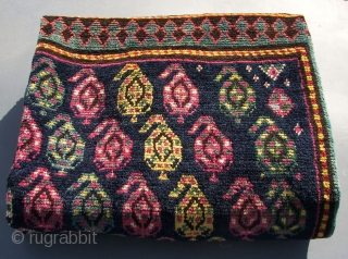 An Armenian Gendje ( also ; Ganja,Genje,Ghyandzha,Elisavetpol.) Kazak, in perfect allover condition. End 19th.C. Ca. 240 x 135 cm. Long haired.  Saturated all natural coloured.( And a great Purple.)  Eagle  ...