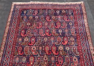 "Kurdish, (  Kerman / Kirman  ? ) Wool on cotton, ca 187 x 390 cm. B condition. Allover Botehfest.Ca; 1900.  Listening; ""Alice Coltrane - Turiya And Ramakrishna"" Outside Europe 50,oo Euro s  ..."