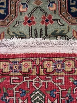 Ghoum / Qom, from the early beginning , so, wool on cotton ,and ca 70 years old. ca, 220 cm x 140 cm .( including fringes.)  Good overall condition . cleaned  ...