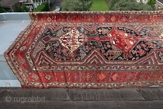 """Rough South Persian tribal, wool on wool. start of the 20th. Century.Cleaned and washed, good colors. ca. 160 x 330 cm. price including worldwide transport. Listening; """"David BYRNE & St VINCENT """" road to  ..."""