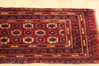 Turkmen torba Natural colors Good Condition  19th Century size 1.20cm x 0.40cm