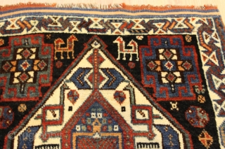 Natural colors 19th Century Good Condition excellent wool  Clean and hand washed.small rug size 0.75cm x 0.65cm