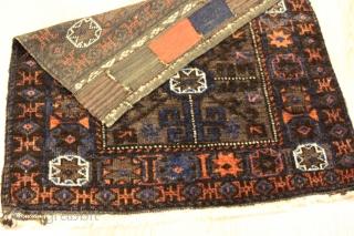 Baluch bagface Natural colors 19th Century size 0.61cm x 0.67cm
