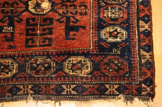 Baluch bagface  Natural colors Clean and Hand Washed 19th Century  size 0.64cm x 0.75cm