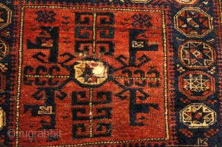 Baluch bagface  Natural colors Clean and Hand Washed 19th Century 